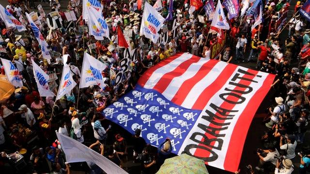 Anti-Obama-Demonstration auf den Philippinen.