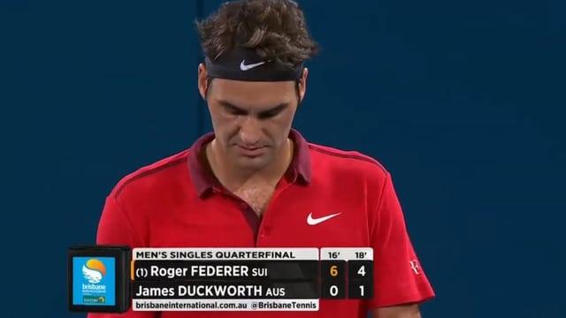 Federer führt klar.