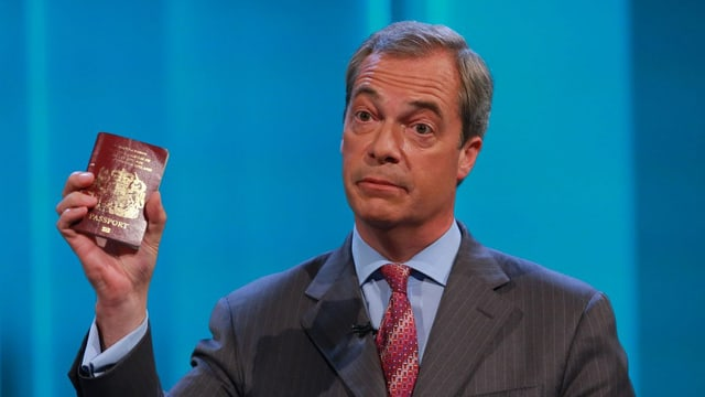 Nigel Farage in der ITV-Fragerunde.