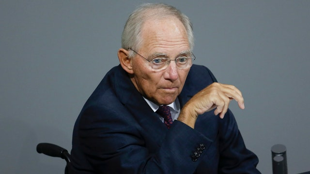 Purtret da Wolfgang Schäuble, il minister da finanzas tudestg.