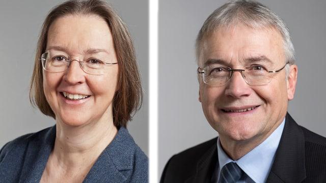 Anne Seydoux und Claude Hêche