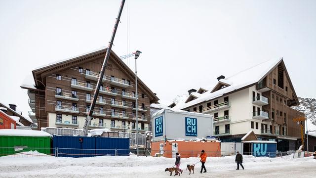 Das Hotel Chedi im Bau.