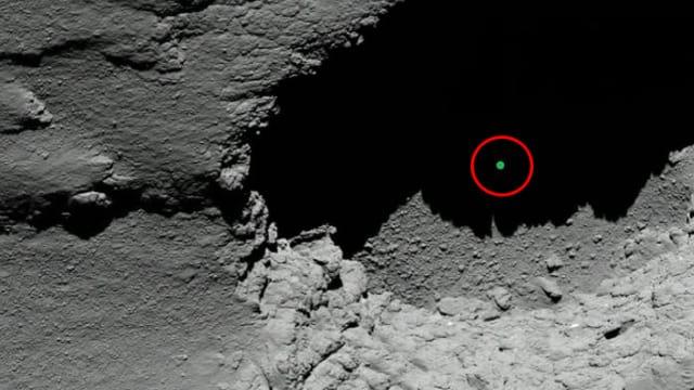 Ein Bild von Rosetta von der Oberfläche des Kometen «Tschuri».