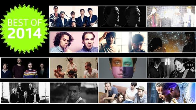 Collage der besten Schweizer Alben
