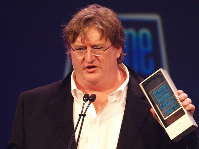 Portrait Gabe Newells, aufgenommen an der Gemae Developers Conference 2010