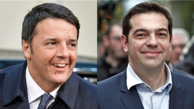 Matteo Renzu und Alexis Tsipras