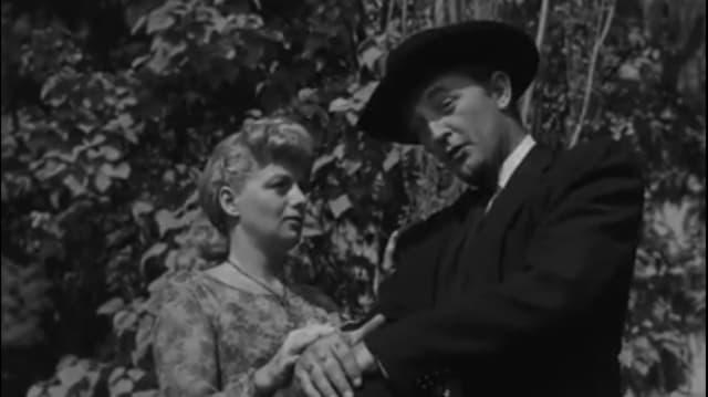 Robert Mitchum und Shelley Winters