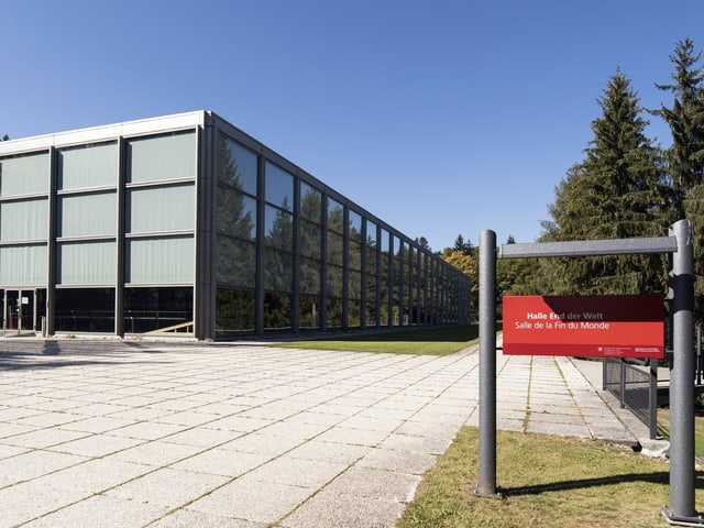 Trainingshalle in Magglingen.
