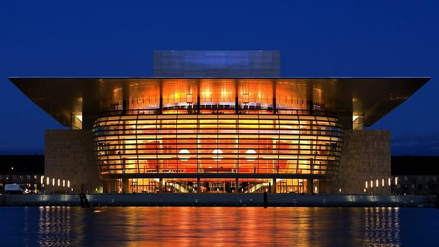Blick auf das Opernhaus in Kopenhagen
