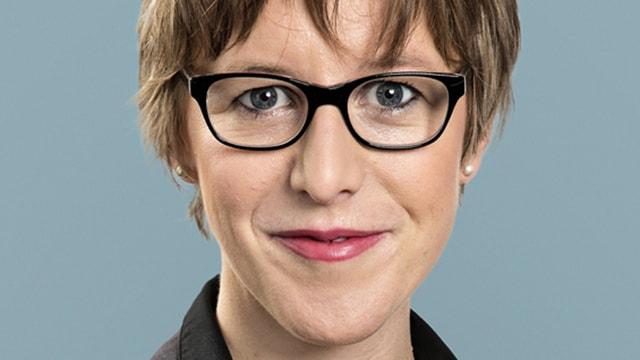 Portrait der Politikerin Barbara Gysel.