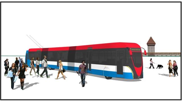 «RBus», der in der Stadt Luzern zum Einsatz kommen soll.