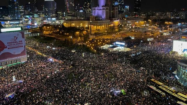 Zehntausende an der Demonstration Ende Oktober.