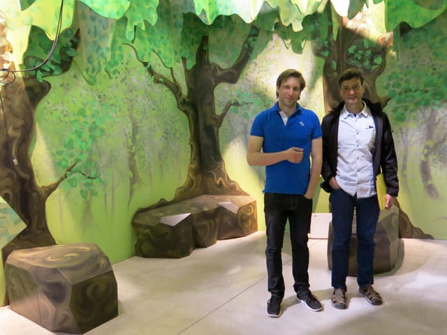 Die beiden Projektleiter Philipp Schroth und Felix Tobler.
