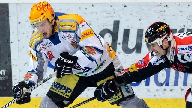 Marc Antoine Pouilot (l.) und Shawn Heins.