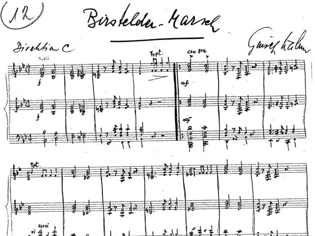 Es sind die Orignial-Noten, vom Komponisten von Hand geschrieben