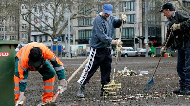 Arbeitsintegrations-Einsatz in der Stadt Zürich