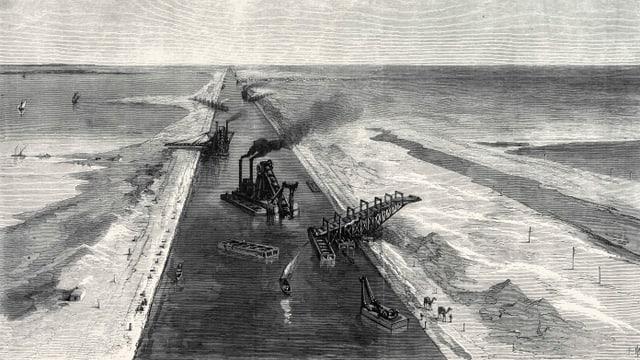 Der Suezkanal.