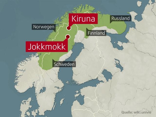 Das Land der Samen: Das Siedlungsgebiet erstreckt sich über die Länder Norwegen, Schweden, Finnland und Russland.