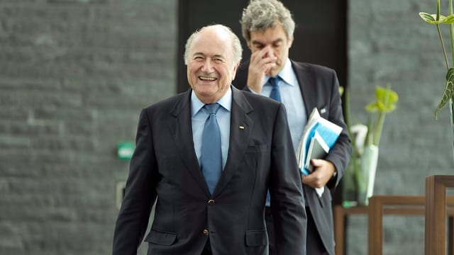 Sepp Blatter e Walter de Gregorio da la Fifa.