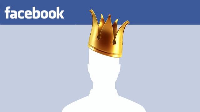 Facbook-User-Logo mit Krone auf