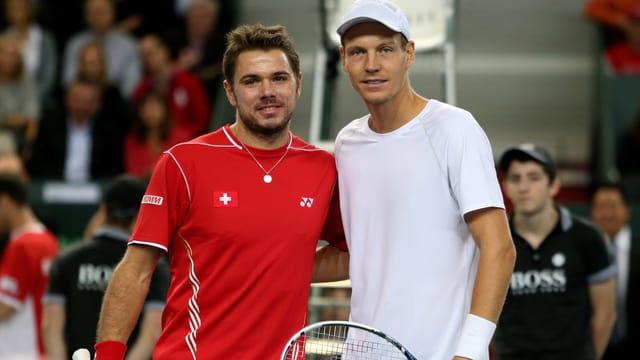 Stanislas Wawrinka und Tomas Berdych.