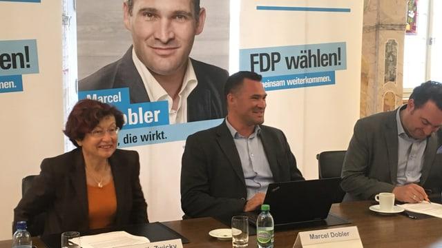Marcel Dobler bei der Bekanntgabe seiner Kandidatur.