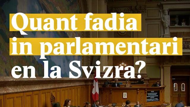 Laschar ir video «Quant fadia in parlamentari en la Svizra?»