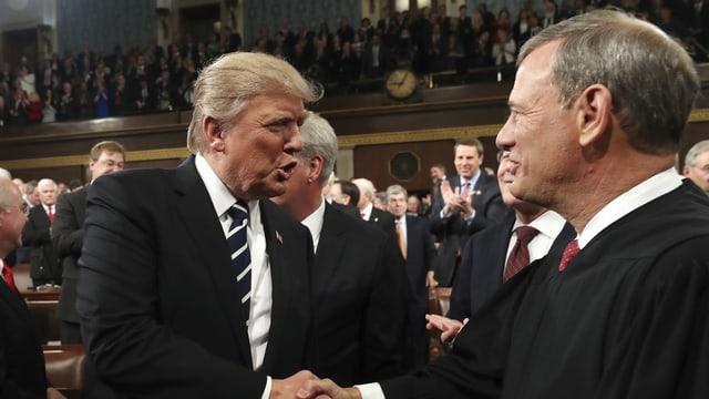 Angespanntes Verhältnis zwischen Trump und Obersten Bundesrichter