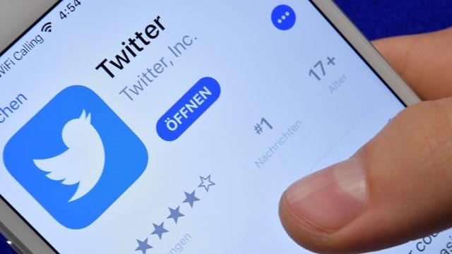icona da Twitter sin in telefonin.
