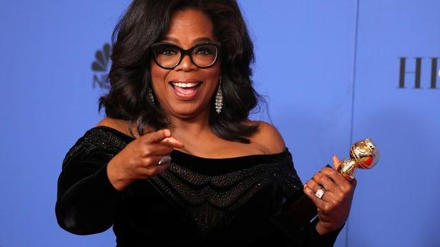 Oprah Winfrey bei den Globes.
