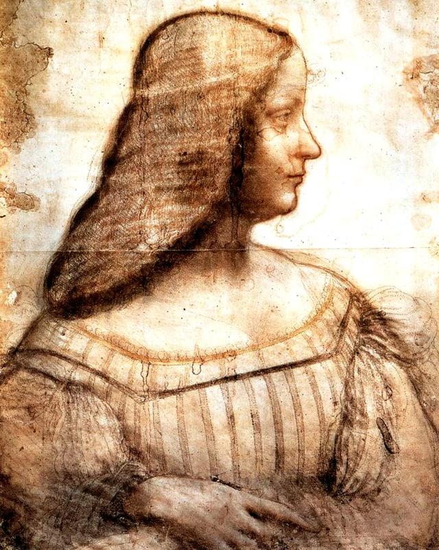 Profilzeichnung von Isabella d'este