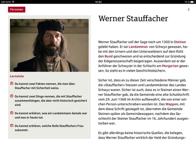 Werner Stauffacher mit Beschrieb.
