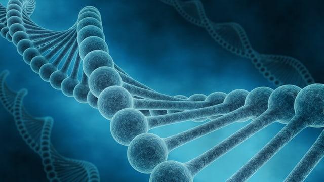 Schematische Darstellung eines DNA-Strangs.