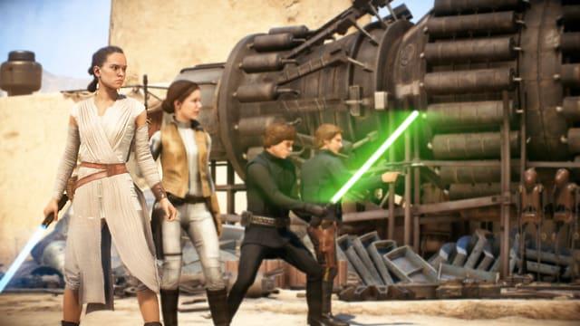 Von Rey über Leia bis zu Han Solo und Luke Skywalker, alle kämpfen Schulter an Schulter für die helle Seite.