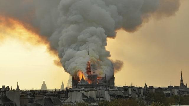 Brennende Notre-Dame