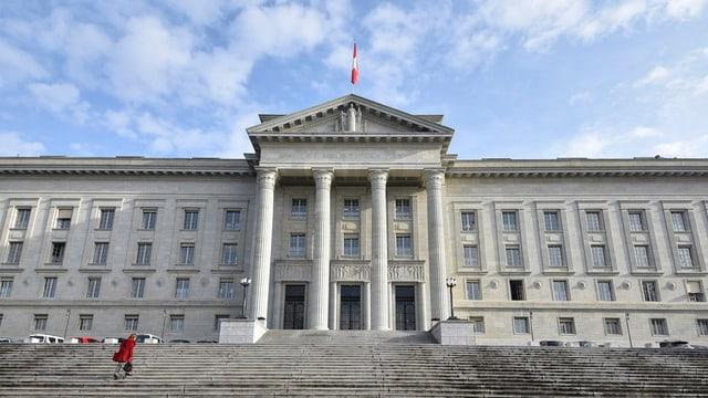 Das Bundesgericht in Lausanne von aussen betrachtet.