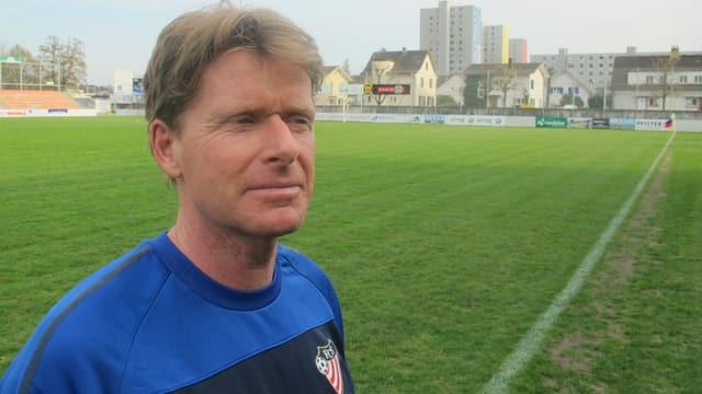 Ronald Vetter im Stadtion des FC Solothurn
