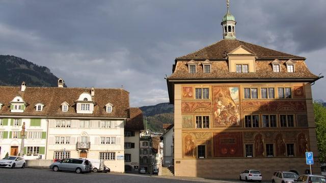 Rathaus in Schw<z
