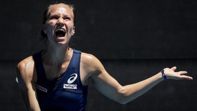 La giugadra da tennis svizra Viktorija Golubic.