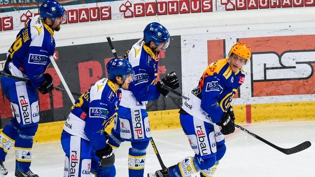Lindgren nach einem Treffer gegen Kloten.