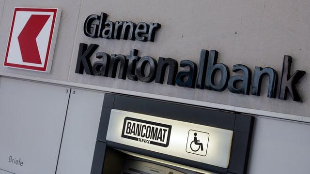 Bankomat der Glarner Kantonalbank