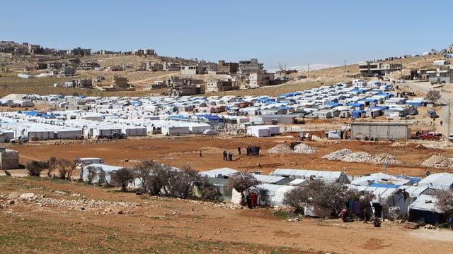 Zelte in einem Flüchtlingslager