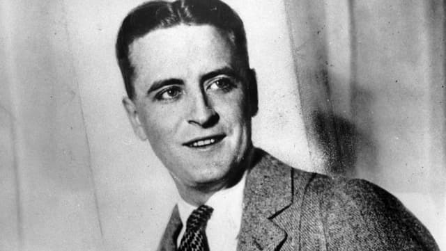 F. Scott Fitzgerald im Porträt.