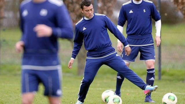 Johan Vonlanthen beim Training mit dem FC Wohlen