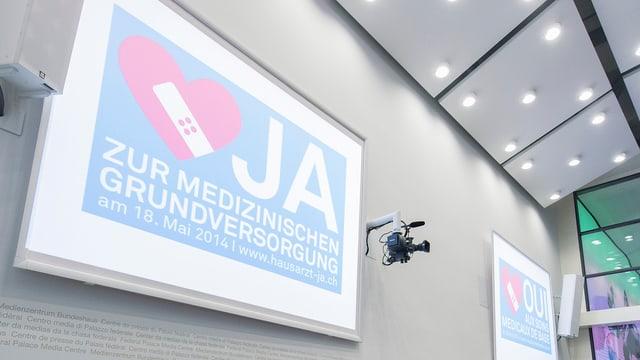 Plakat mit Ja-Parole.