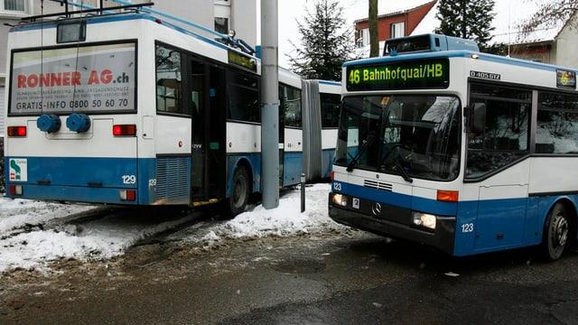 Busse der VBZ in Zürich