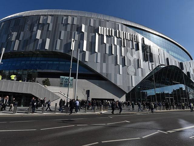 Die Aussenansicht des Stadions.