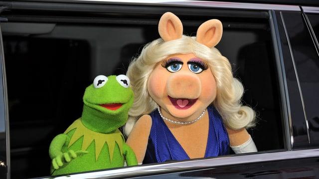 Las figuras da la Muppet Show, Kermit e Miss Pigggy