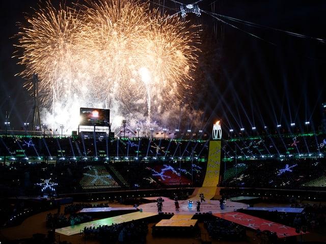Die Zeremonie zum Abschluss der Paralympics in Pyeongchang war farbenfroh.