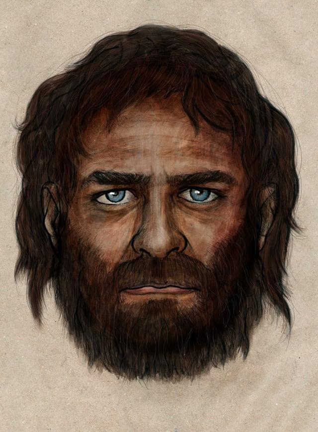 Diese Darstellung des Gesichts des Ur-Spaniers basiert auf den Analysen der Forscher.